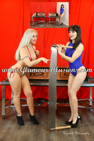 Hannah Perez and Angel Lee thinbox sawing illusion